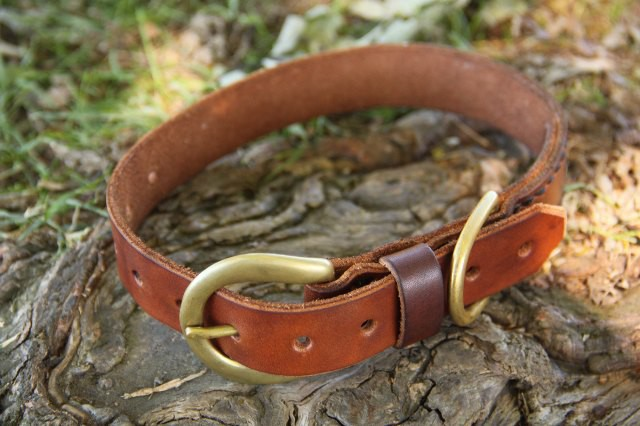 Leather Dog Collar, Leather Pet Accessories, Leather Dog Accessories, Handmade Leather Dog Collar, collar, leather, dog, pet, oiled leather, solid brass, hardware, ike's outfitters, handmade, leather collar