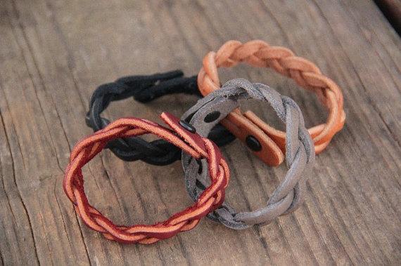 Mystery Braid Bracelet, Leather Bracelet, Braided Bracelet, Ike's Outfitters, Leather Things, Leather, Bracelet